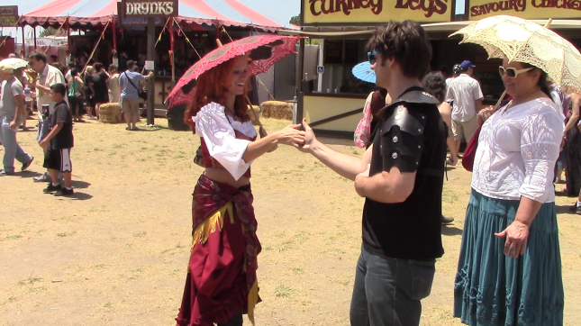 Taking Thumb Wrestling Challenges from Knights, Lords & Ladies at the Renaissance Fair